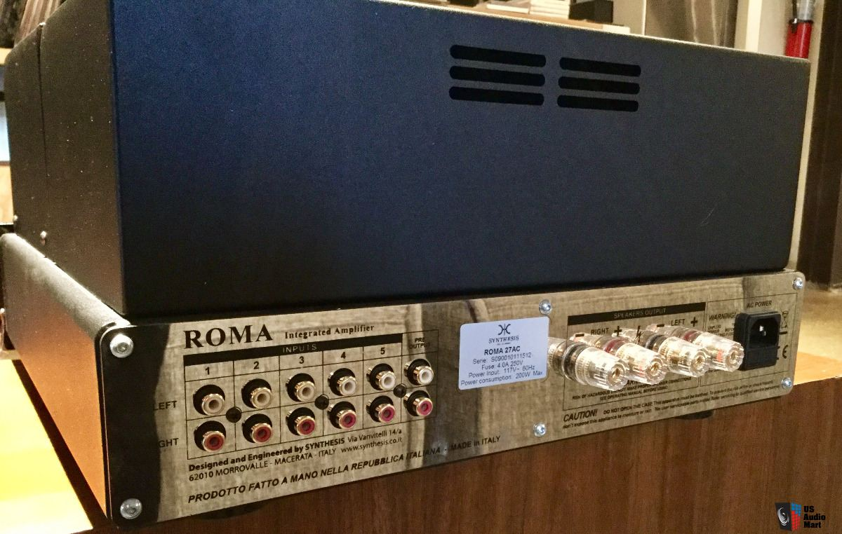 SYNTHESIS ROMA AC27 STEREO TUBE INTEGRATED AMPLIFIER