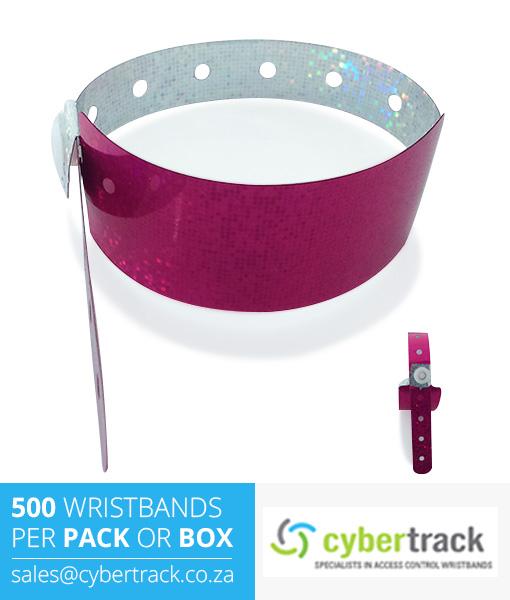 500 Hologram Wideface Wristbands