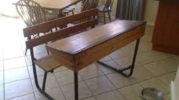 Old School Desks 2 Seater