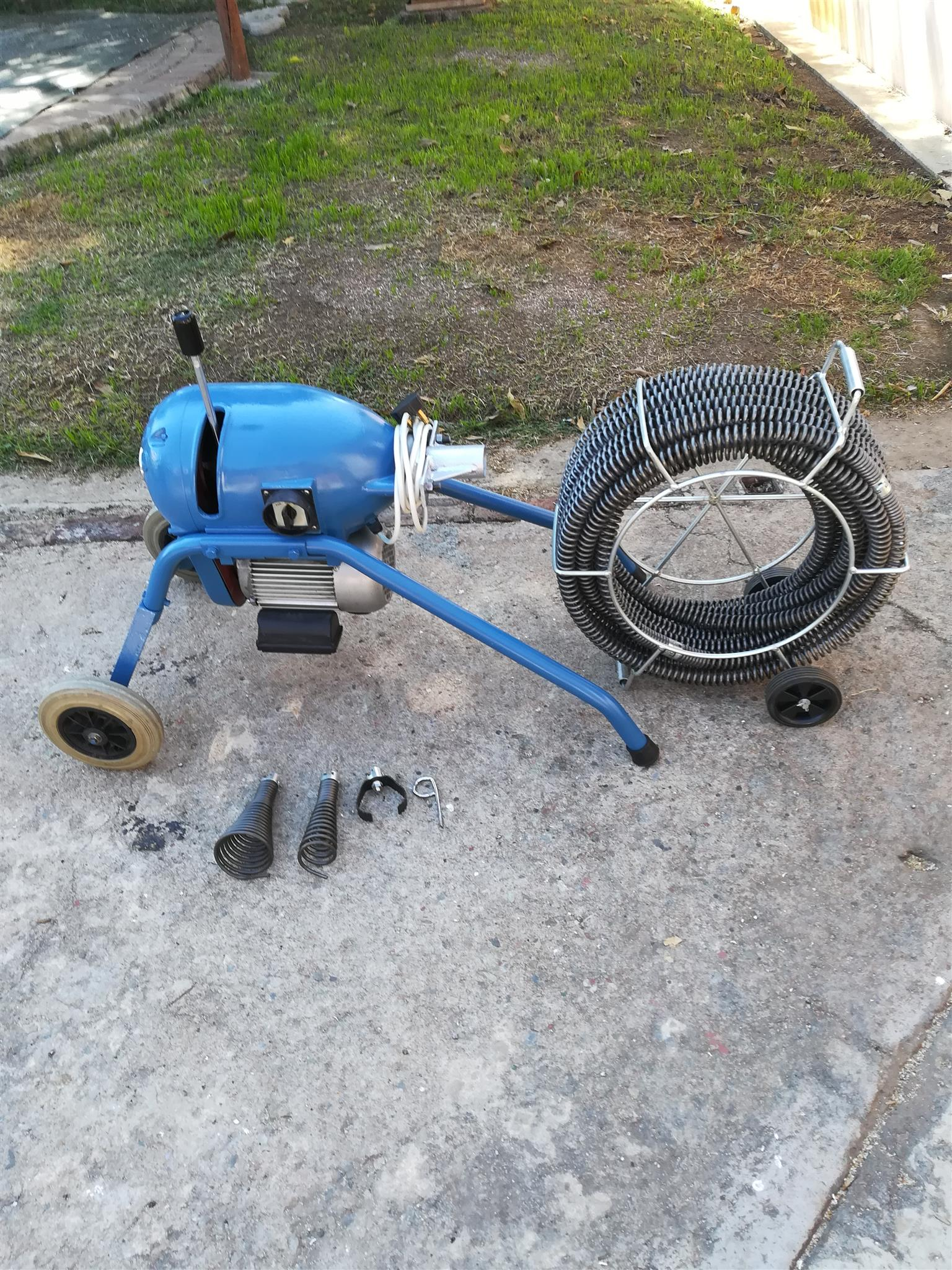 Drain cleaning machine.GQ200 with attachments.