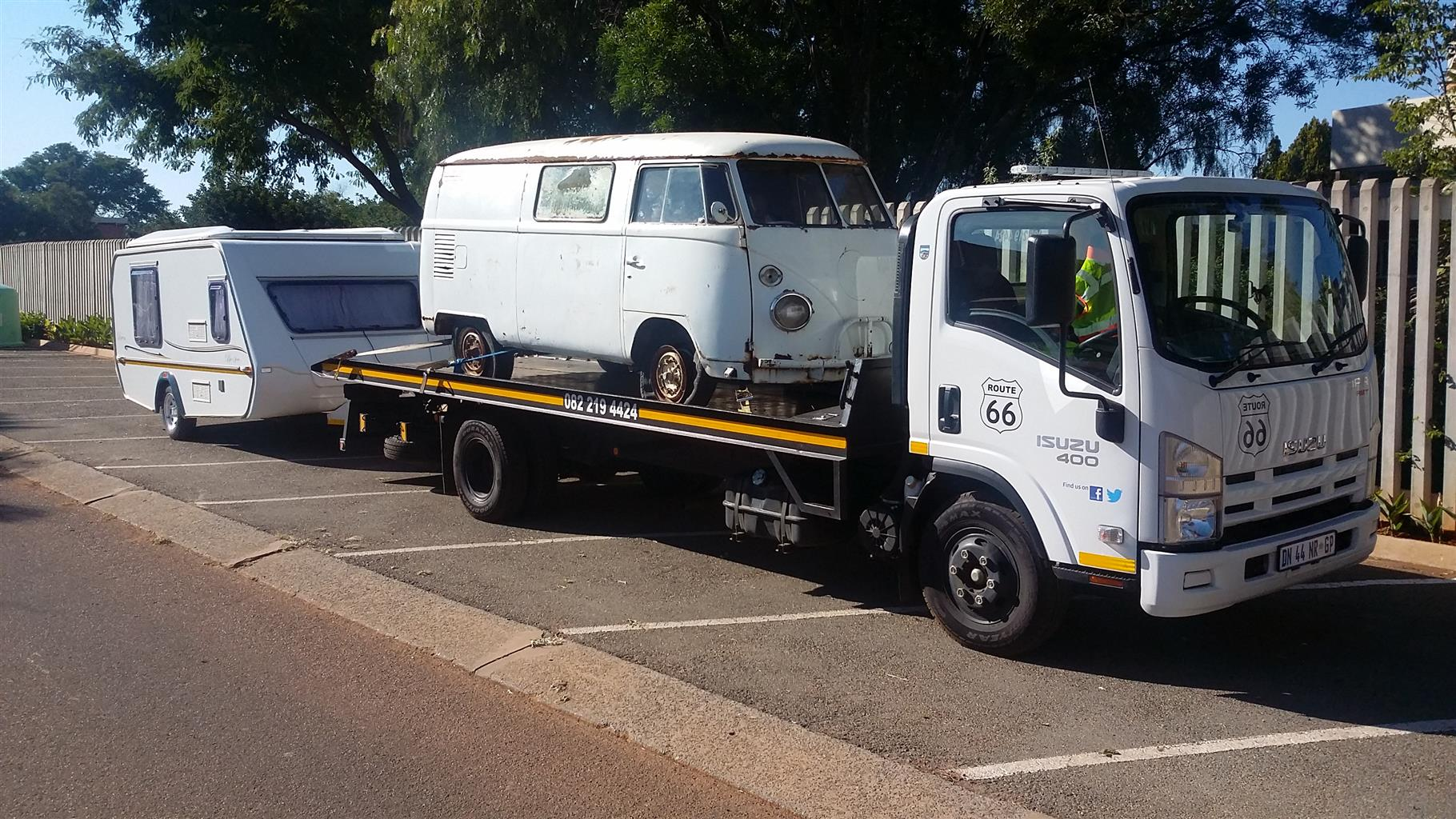 George, Bloemfontein to Gauteng. Trailer & Caravan Transport. Jurgens, Horsebox, Echo 4x4 and Boats.