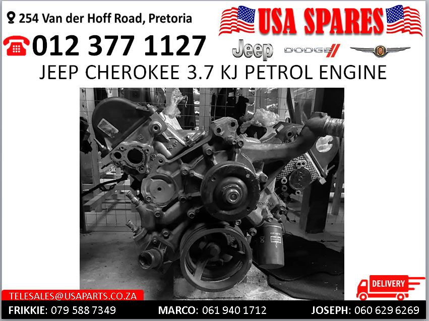 Jeep Cherokee 3.7 KJ petrol engine for sale
