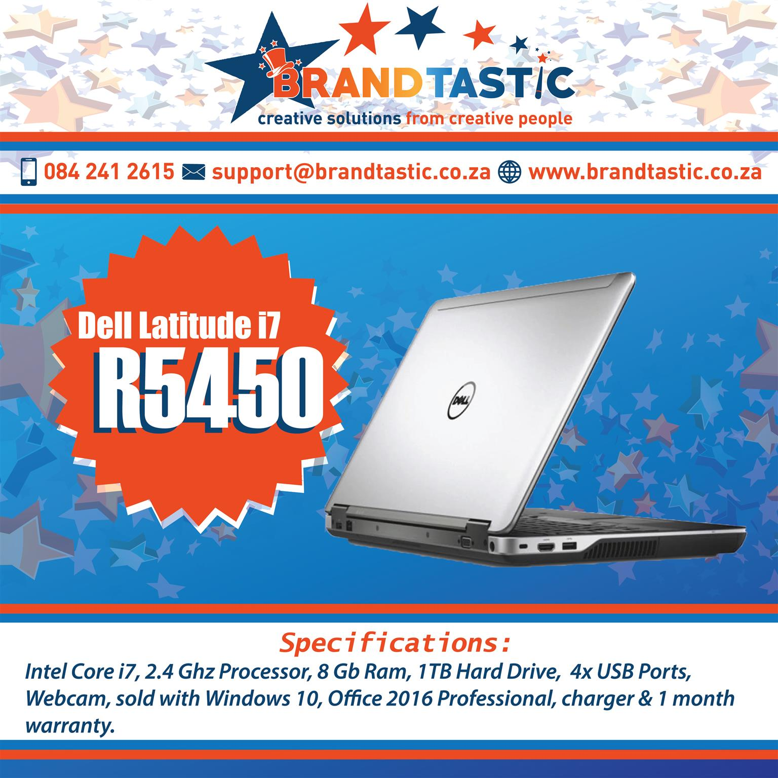 Excellent condition Dell Latitude i7 with original charger @ R5450