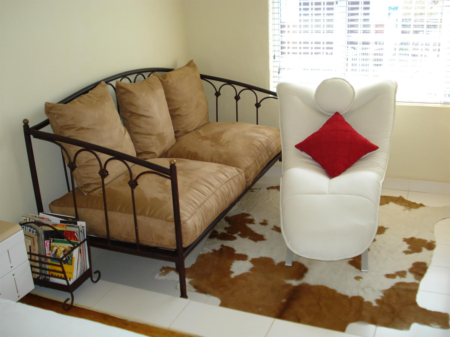 Leather Weave Rug and Genuine Nguni Rug Priced to Go!!!