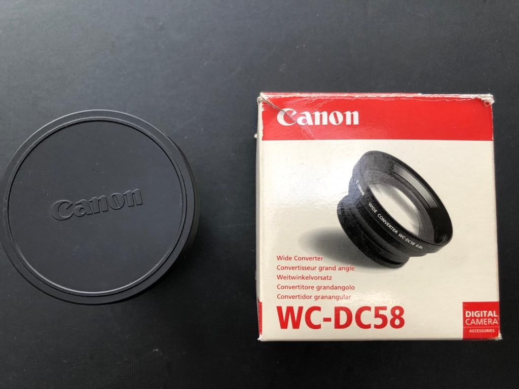 Canon WC-DC58 - 58mm 0.8x Wide Angle Converter Lens - can fit any make 58mm lens