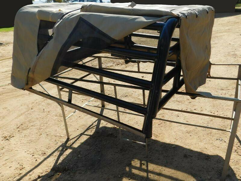 Land Cruiser Canvas Cattle Rail Canopy