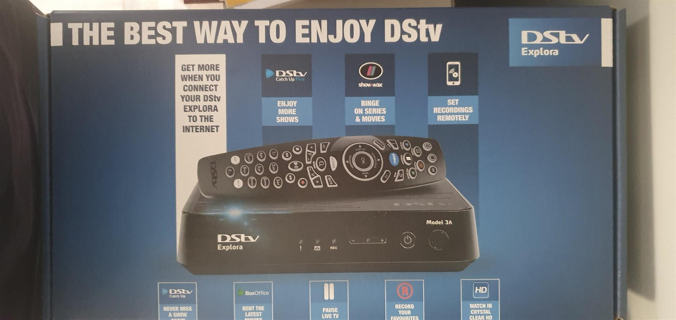 DSTV Explora - 3 months old in box as new