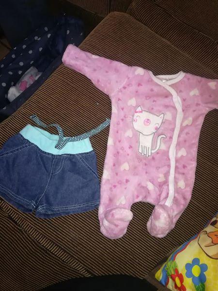 a32c1c27da Denim shorts and pink kitty onesie   Junk Mail