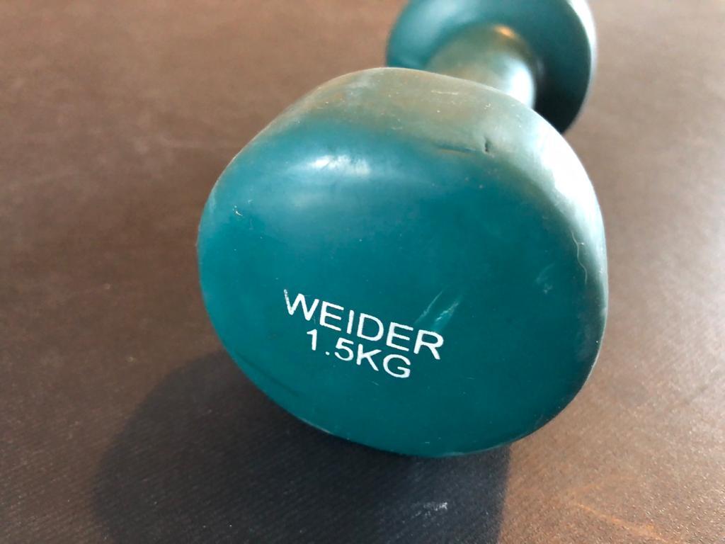 SINGLE 1.5kg Weider rubberised dumbbell