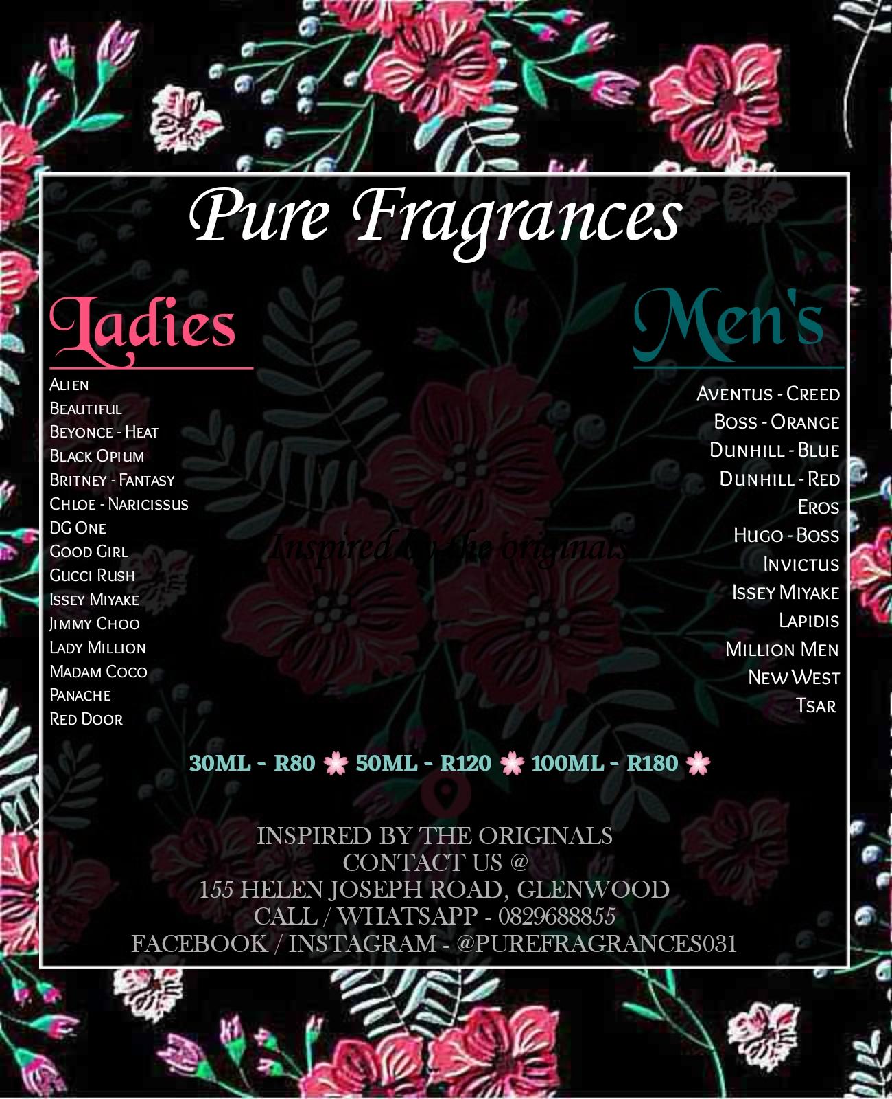 Pure Fragrances The Best In Generic Designer Pefumes