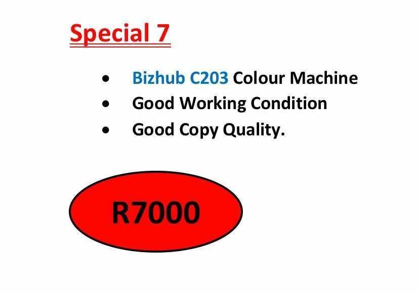 Bizhub C203 Colour Machine