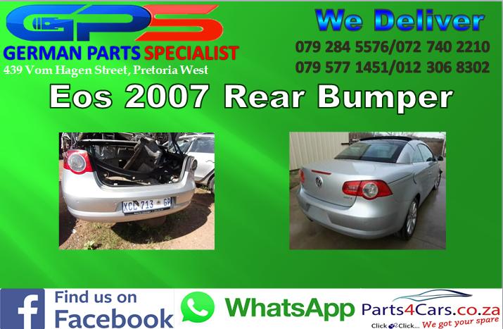 VW Eos 2007 Rear Bumper for Sale