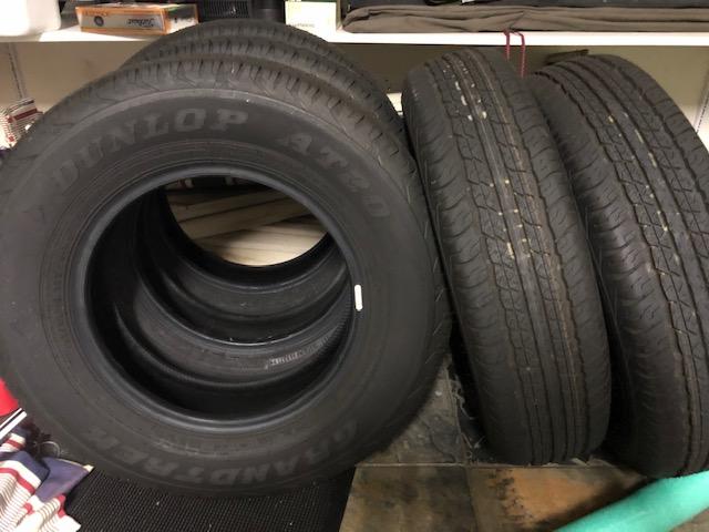 New Dunlop Grandtrek 195/80R15 (5 tyres) off the 2020Jimny