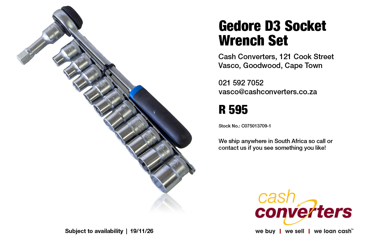 Gedore D3 Socket Wrench Set