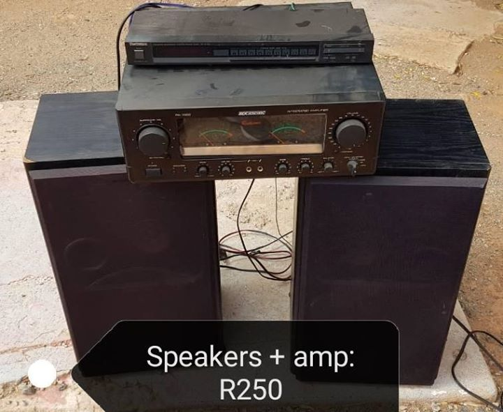 Speakers and amp for sale