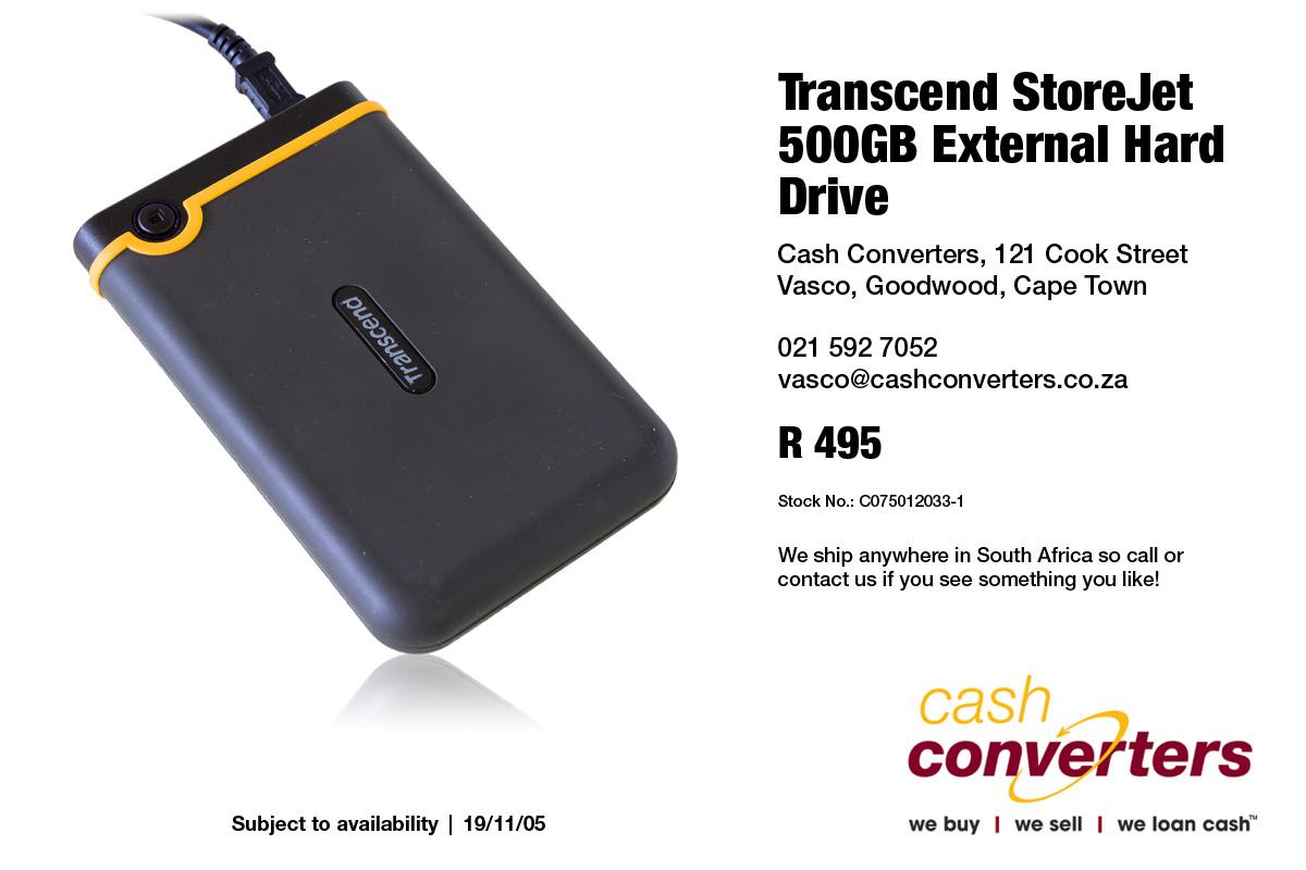 Transcend StoreJet 500GB External Hard Drive
