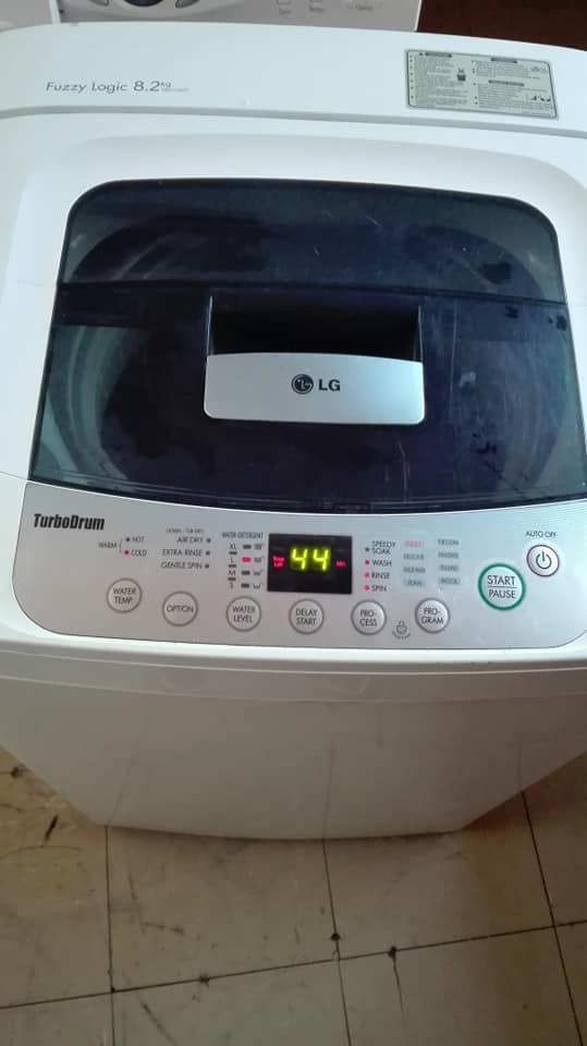 8,2kgs LG top loader washing machine