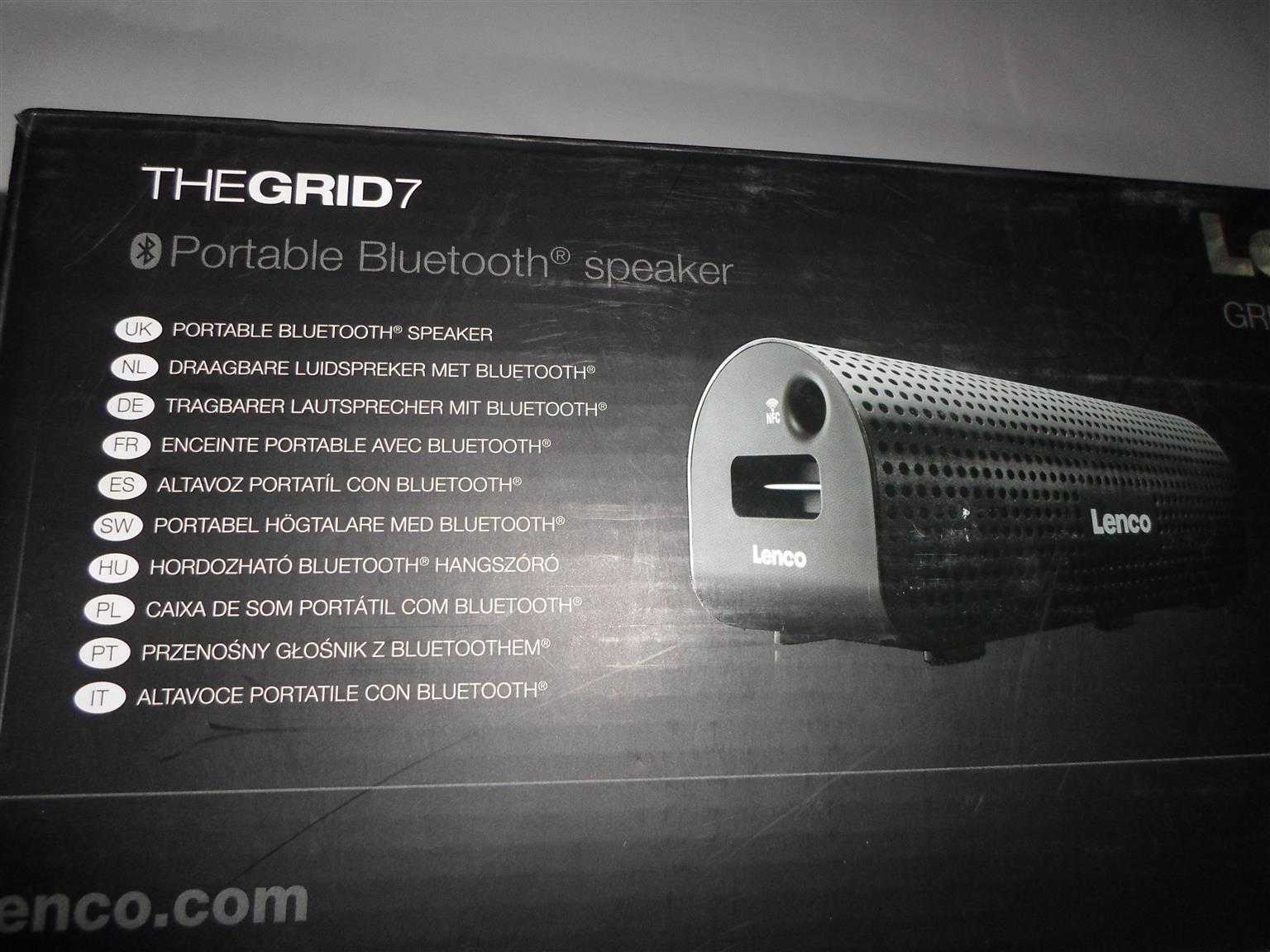 Lenco The Grid7 Bluetooth Speaker