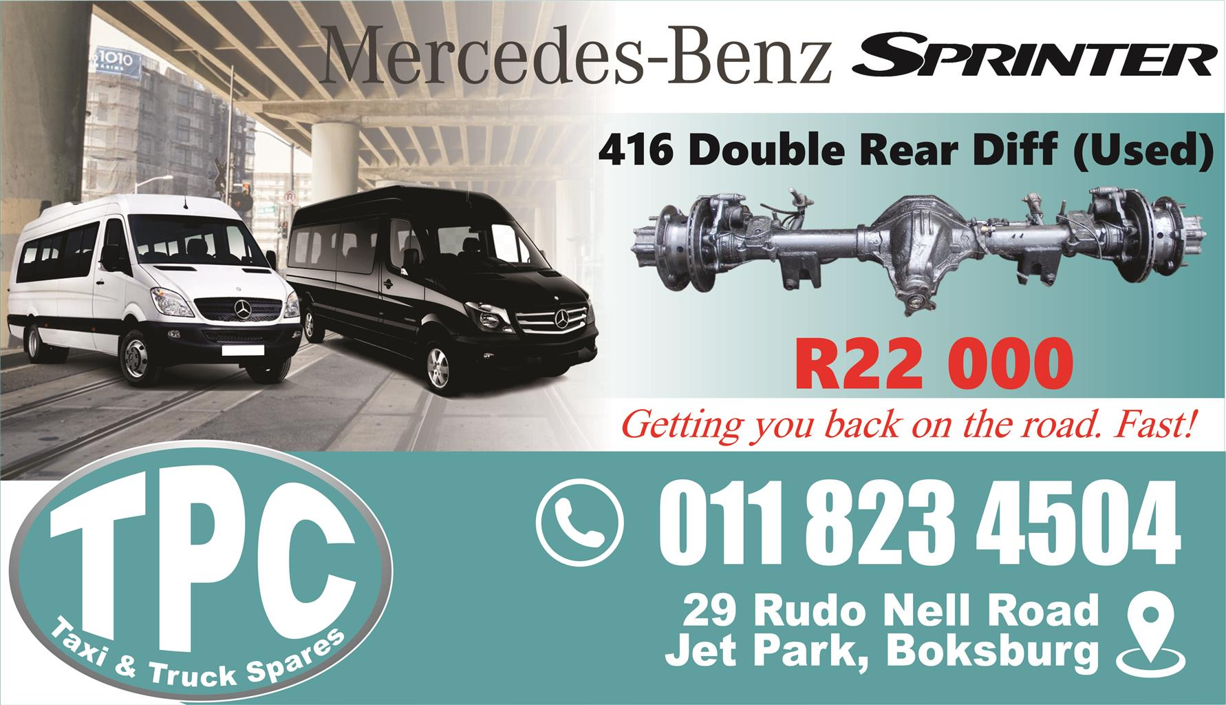 Mercedes Sprinter 416 Diff   Used   New U0026 Used Quality Replacement Taxi  Spare Parts.