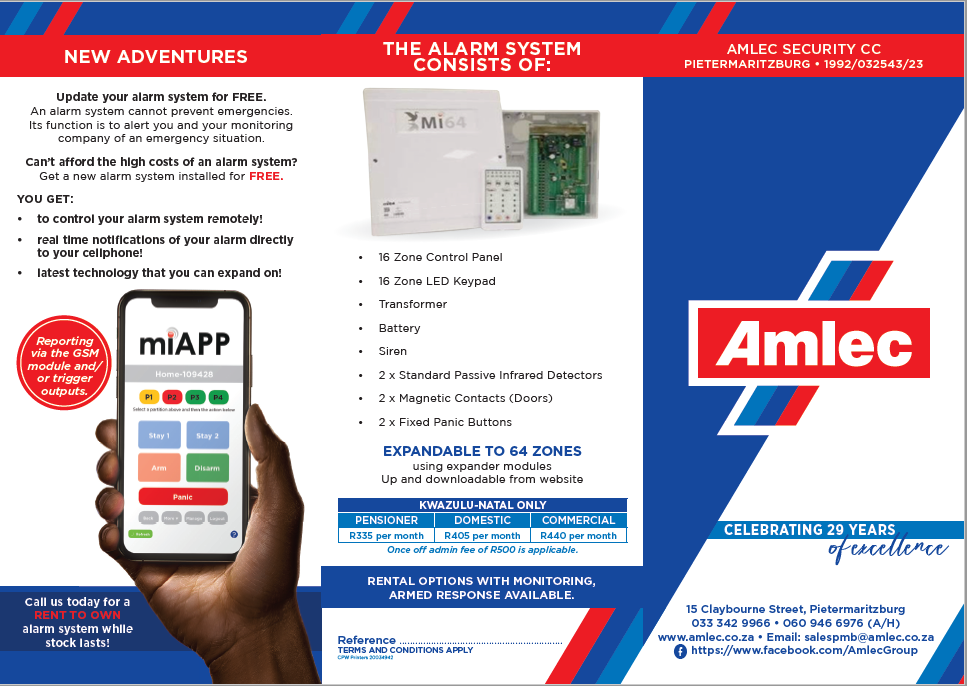 ALARM SYSTEM - RENT TO OWN