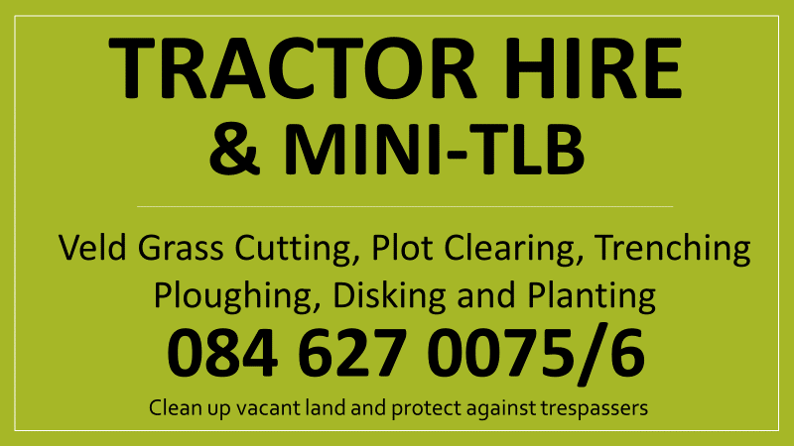 Tractor and Mini-TLB hire