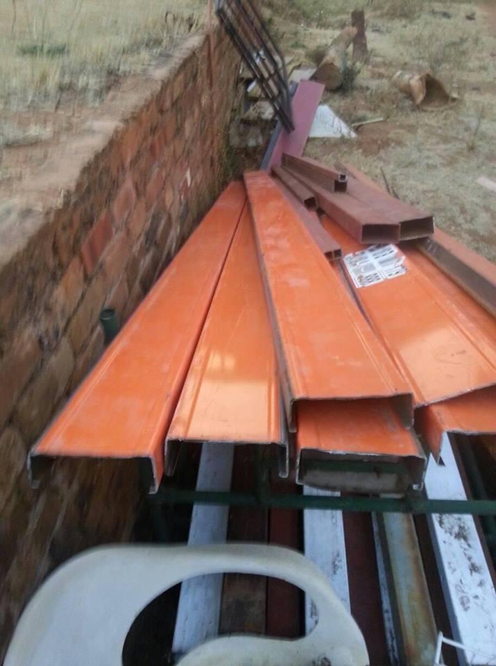 Orange steel tubing for sale