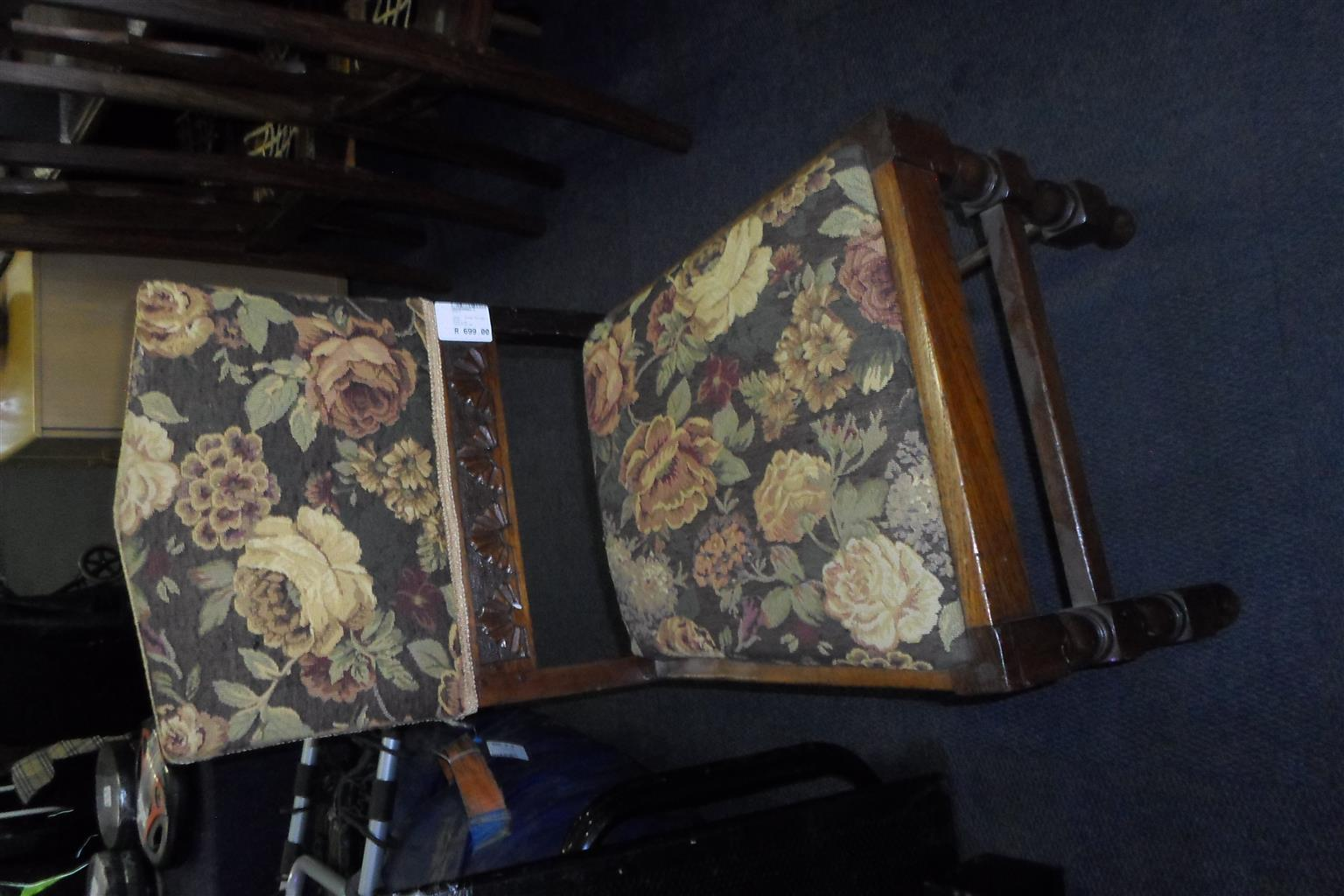 Wooden Antique Chair - Material Seat