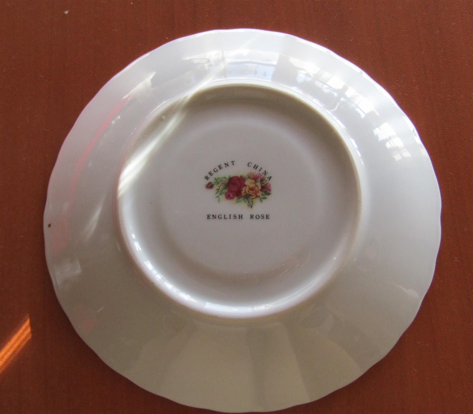 English Rose, Regent China Cup & Saucer Duo