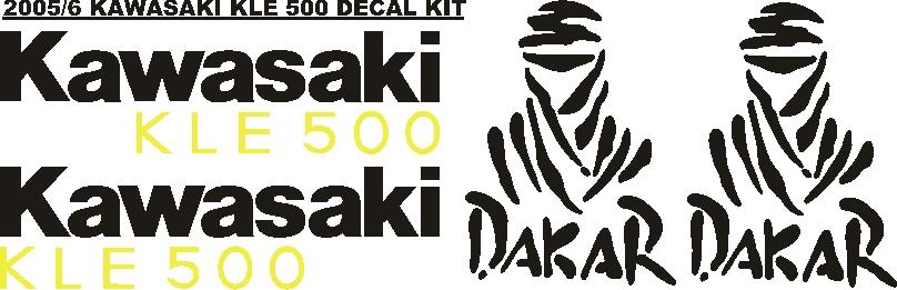 2005 Kawasaki KLE 500 stickers decal vinyl graphics kits