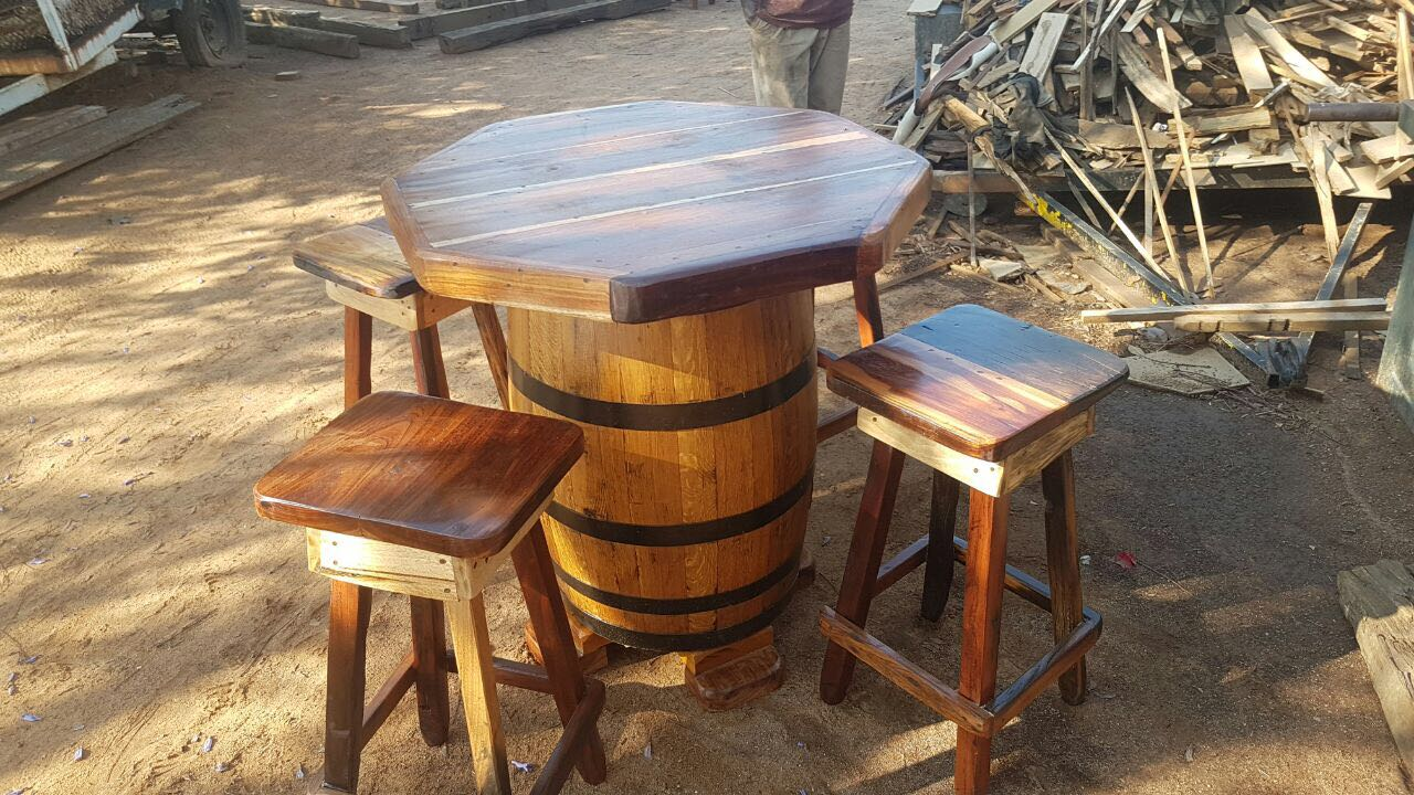Sleeper wood table and chairs