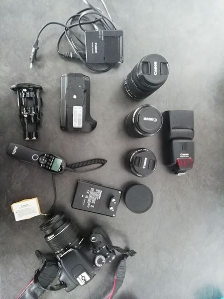 Canon 600 D with equipment