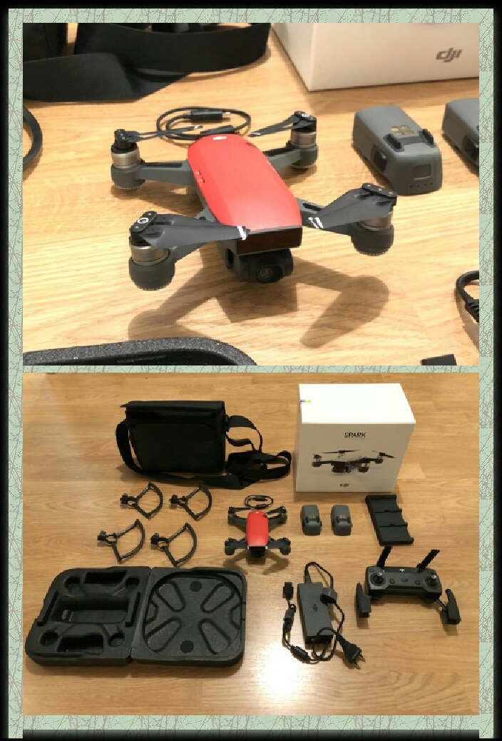 dji spark with extras and accessories box etc