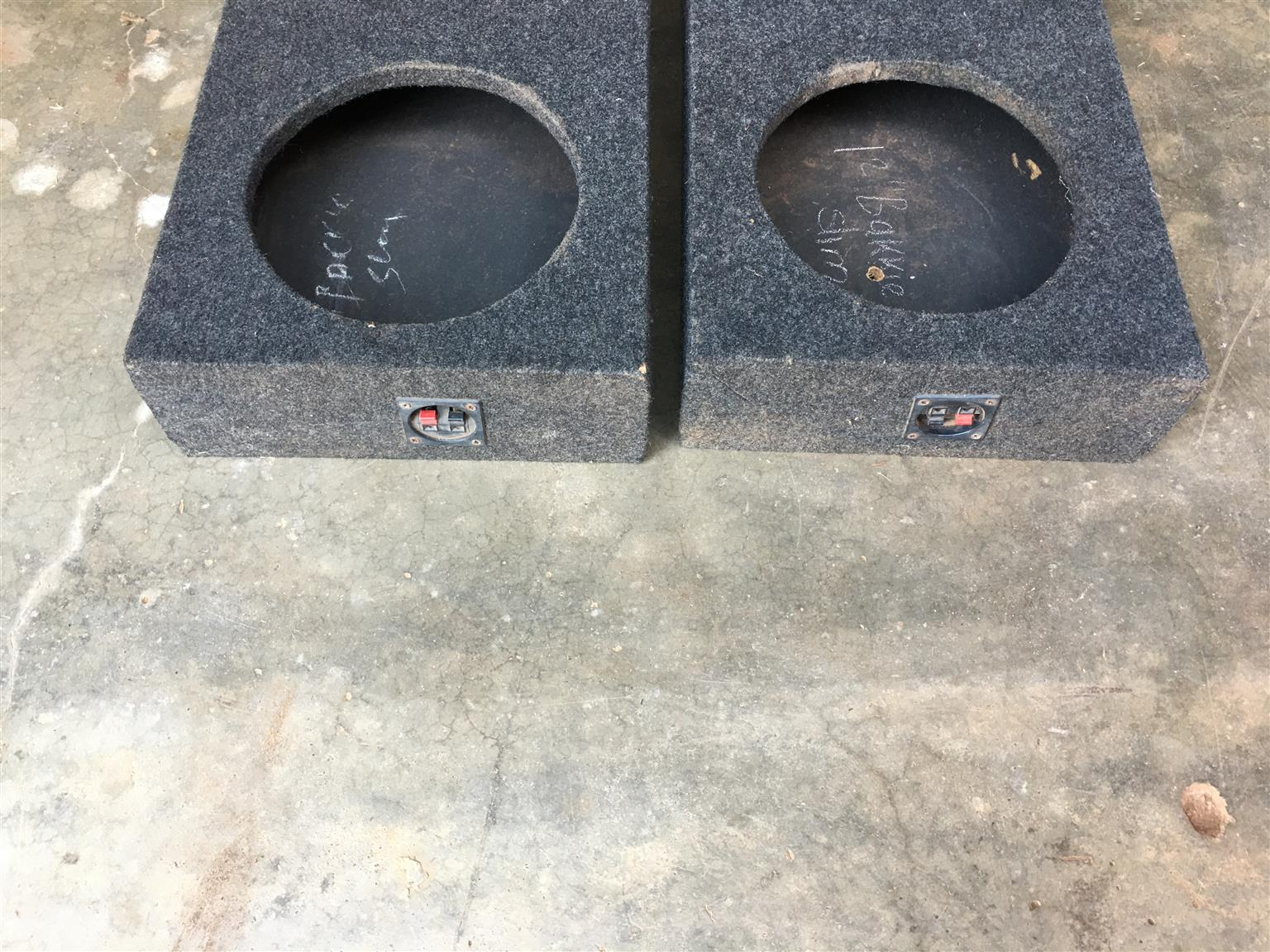 10 and 12inch slim line sub woofer boxes for sale