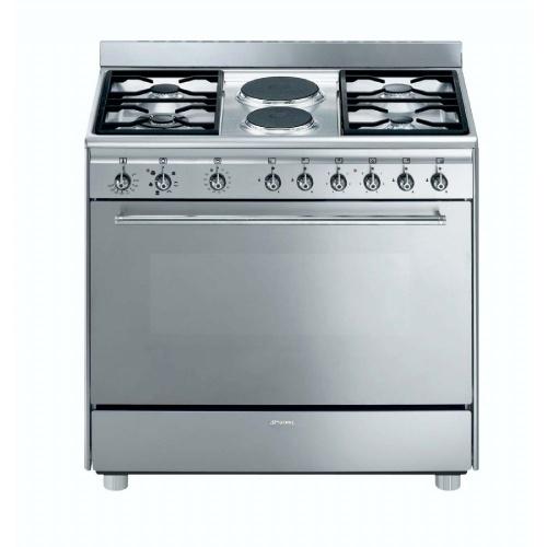 SMEG - 90cm 4 Burner Gas/ 2 Electric Cooker - Model: SSA92MFX9