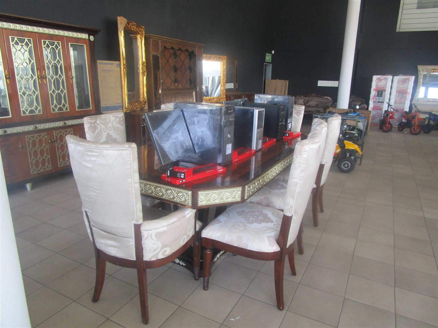 Computers and various accessories on auction