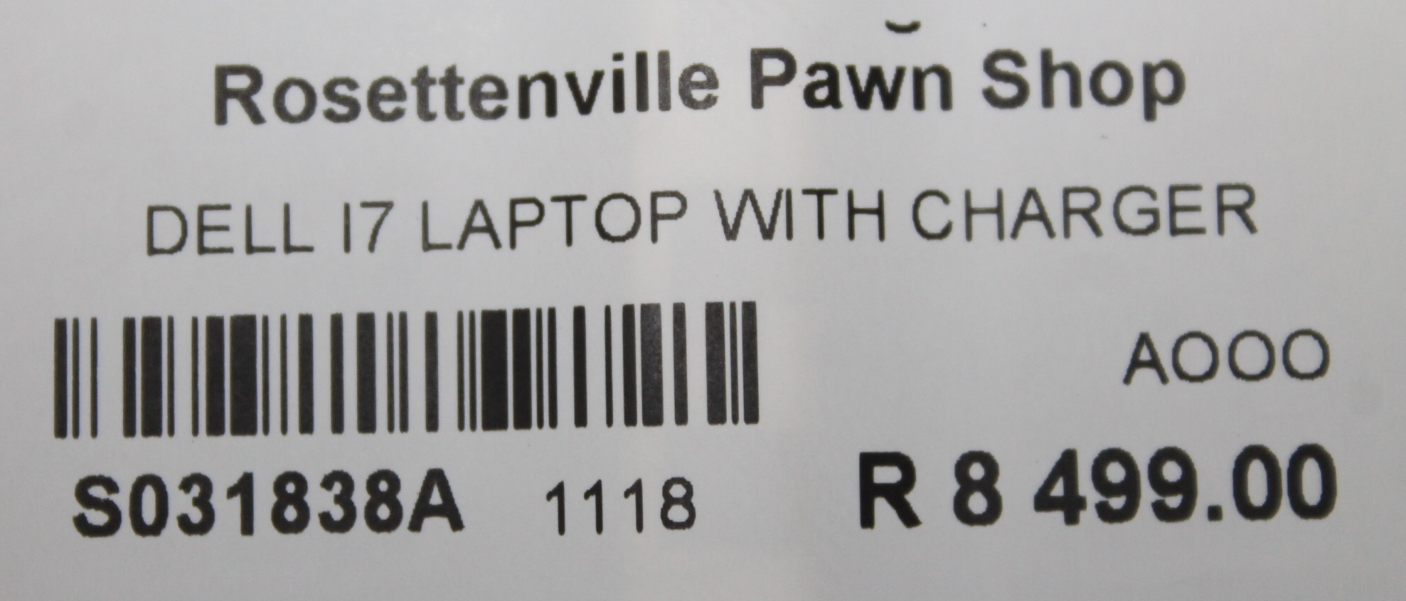 Dell I7 laptop with charger S031838A #Rosettenvillepawnshop