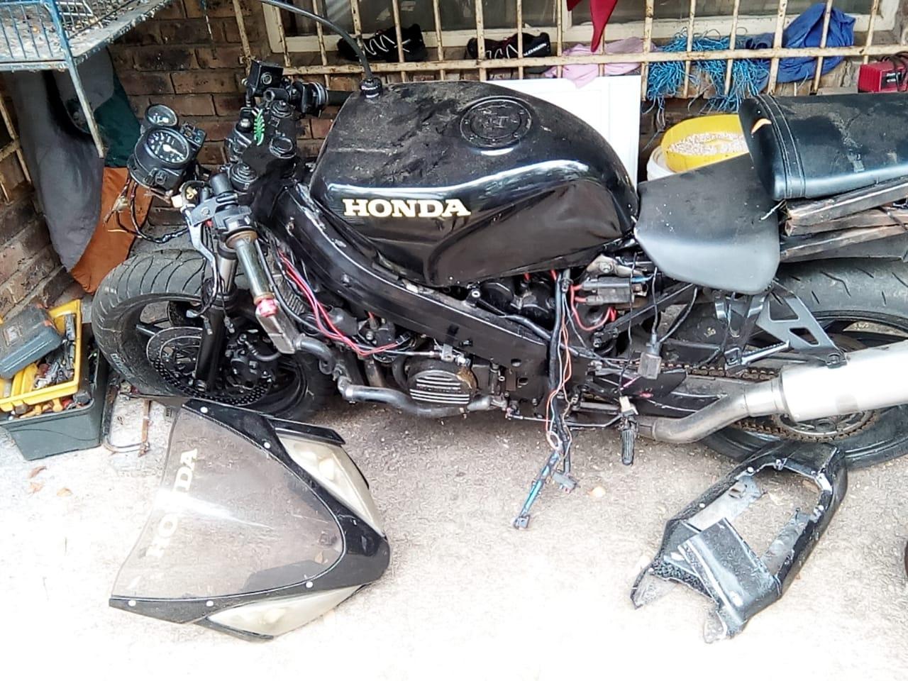 Honda VFR forsale, licence behind