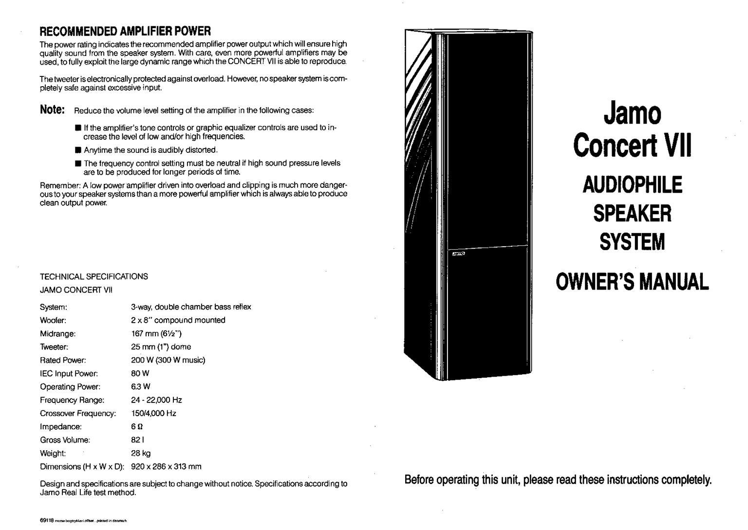JAMO CONCERT 7 LOUDSPEAKERS