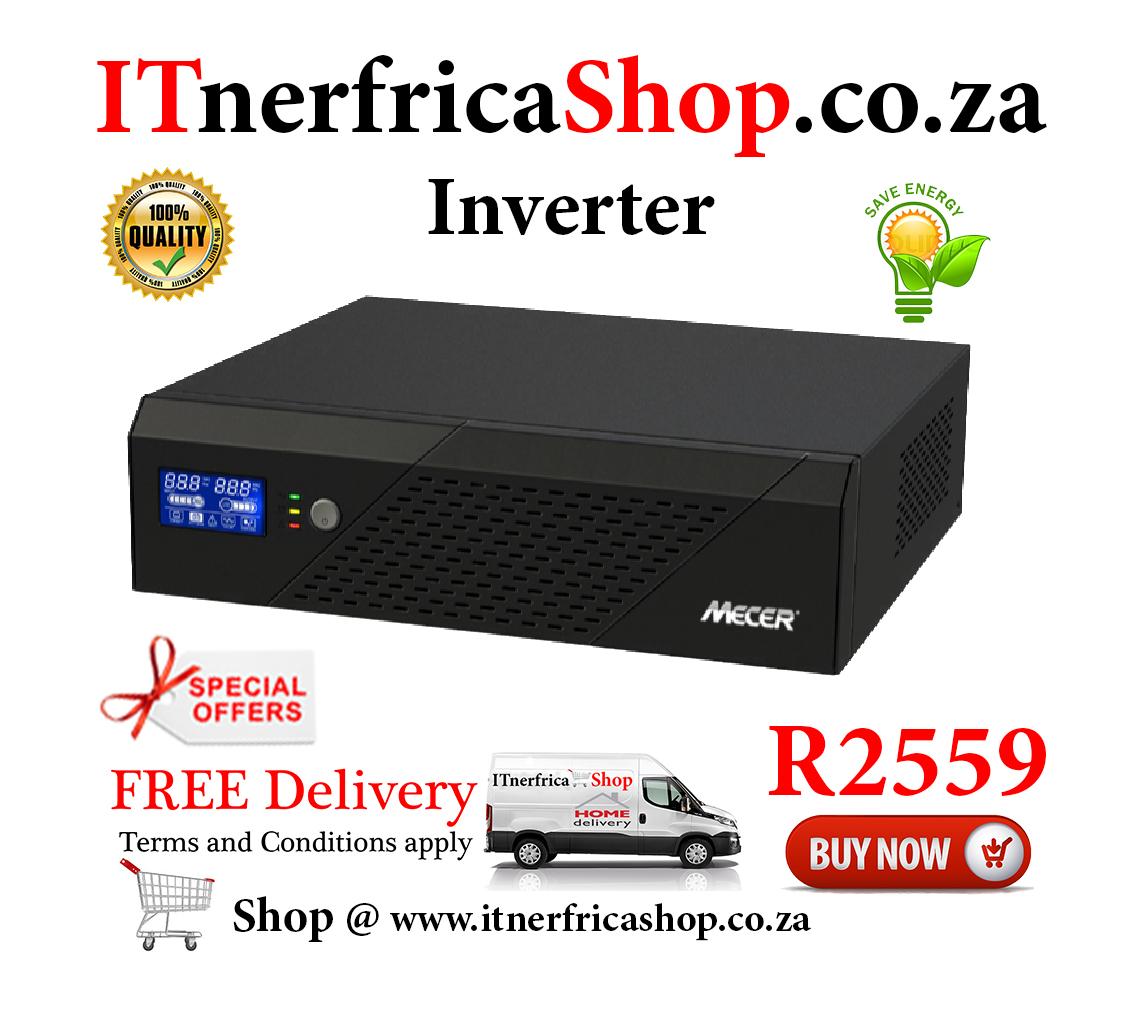 Mecer Inverter with LCD Display: 2400VA, 1440W, 24V