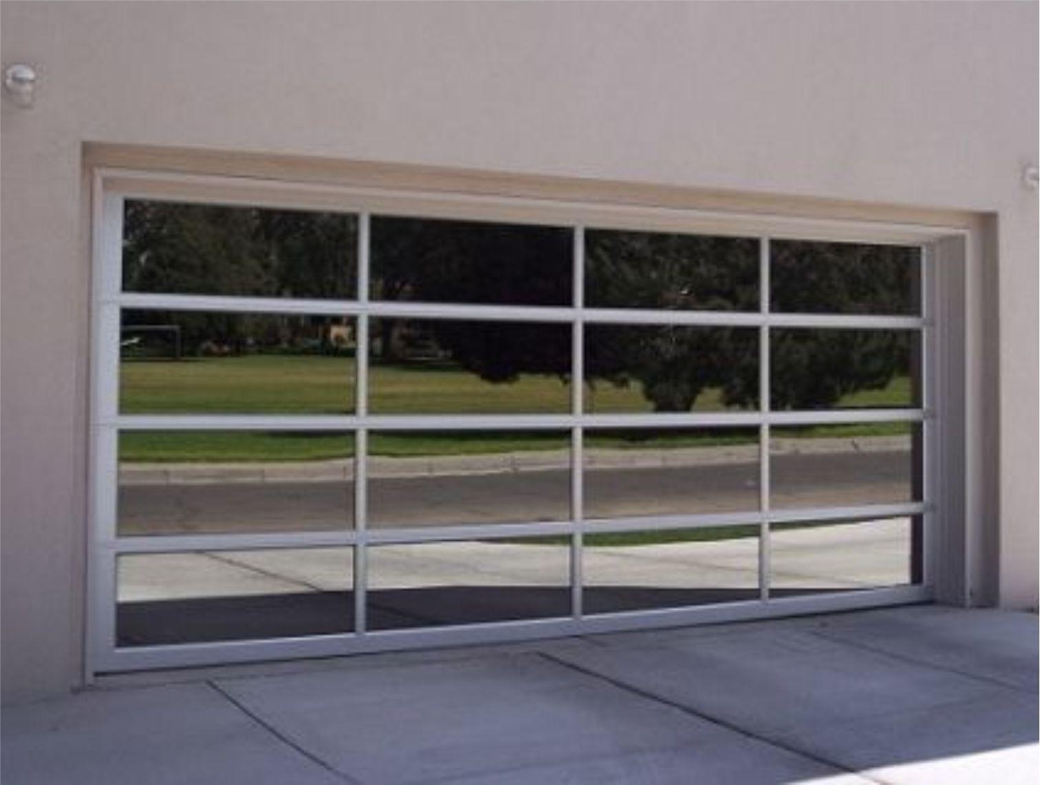 Framed Mirror Garage Door