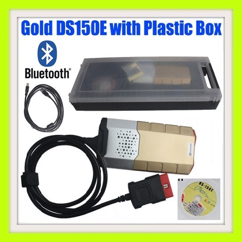 Diagnostic Tool: Delphi DS150E Pro GOLD Diagnostic Tool Bluetooth WITH 8 Car Adap and case