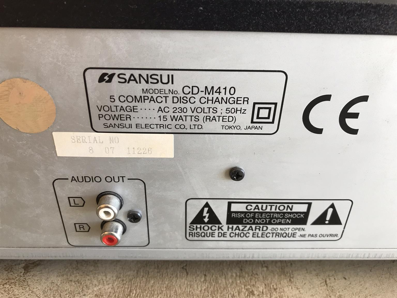 Sansui 5 Compact Disc Changer