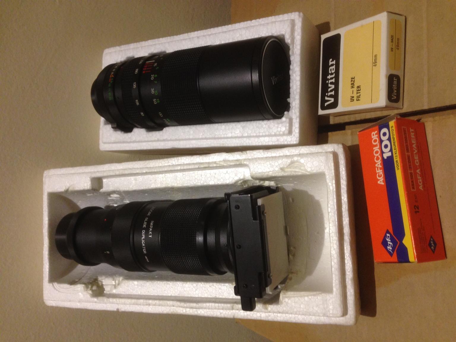Vivitar Camera lenses for Pentax camera