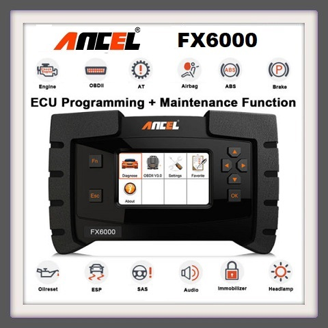 Ancel FX6000 OBD2 Diagnostic Tool All System ODB2 Scanner Automotive Code Reader For Key EPB IMMO DPF SAS TMPS Immo Programming