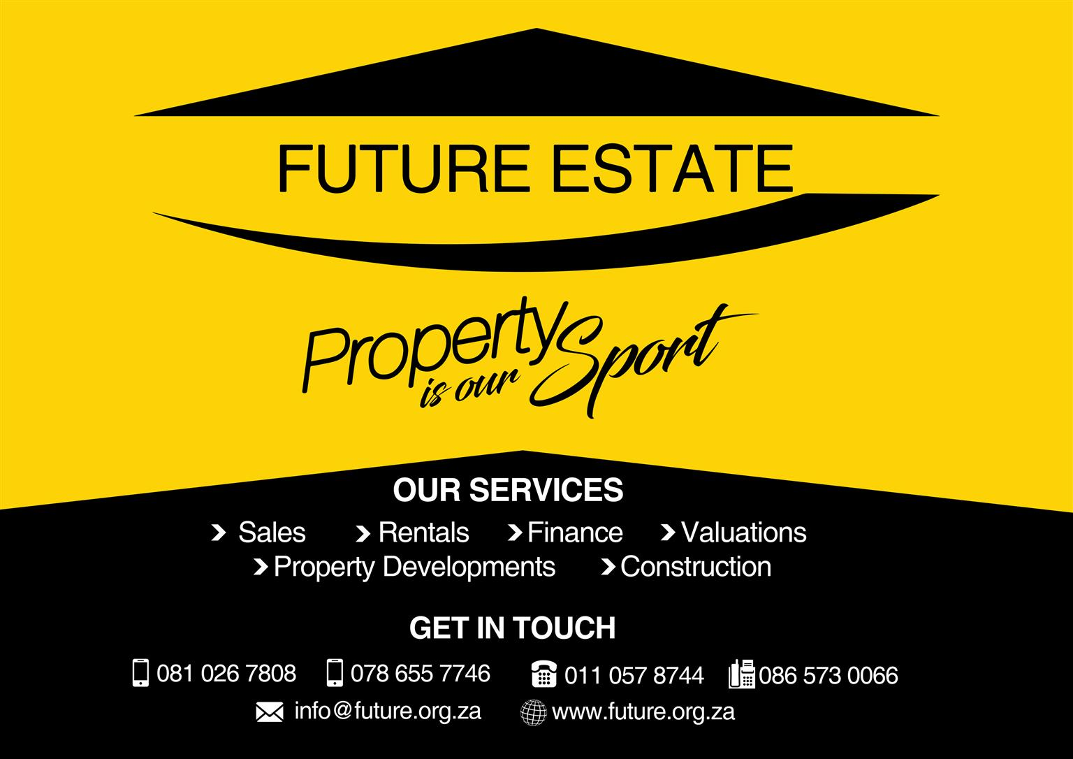 SELLING, RENTING, VALUATION IN TEMBISA? It's always a good idea to have an agent to work with you, we can guide you easily through the process