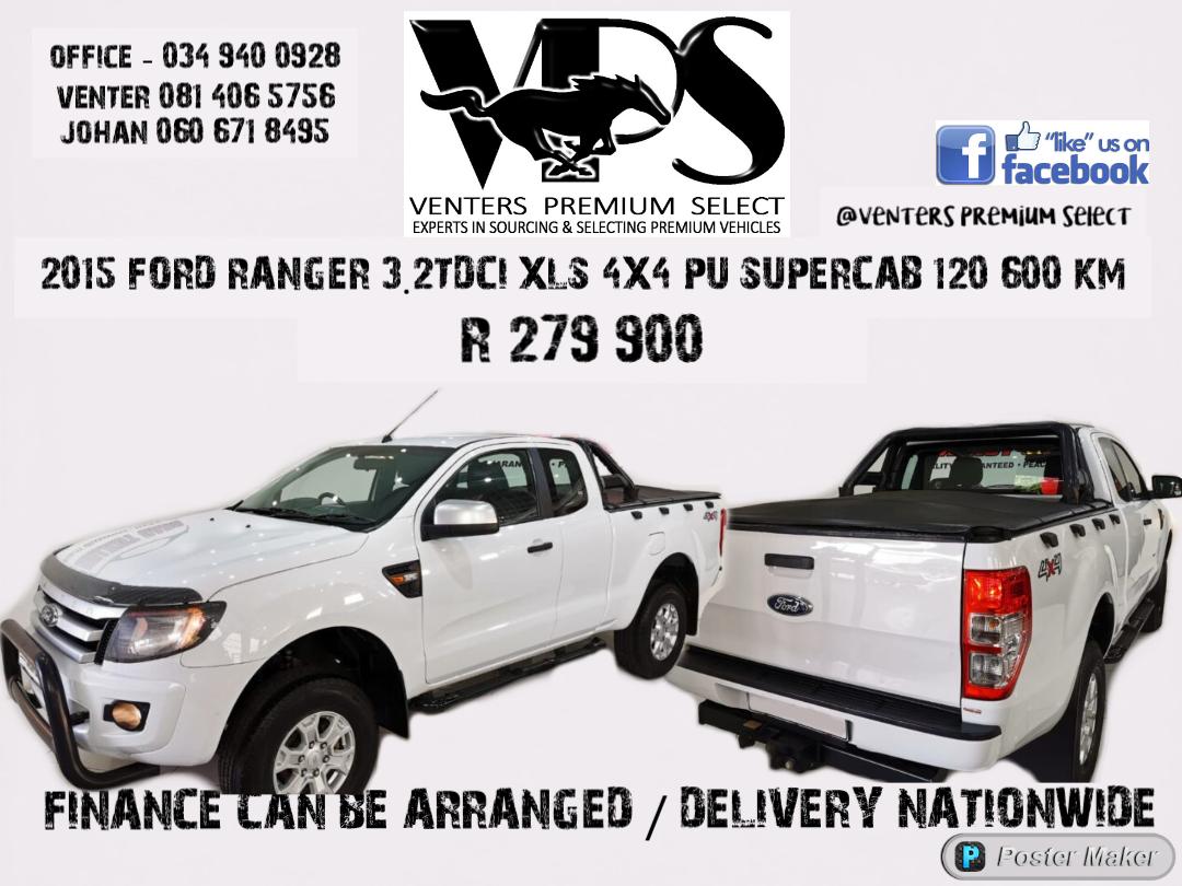 2015 Ford Ranger SuperCab RANGER 3.2TDCi XLS 4X4 P/U SUP/CAB