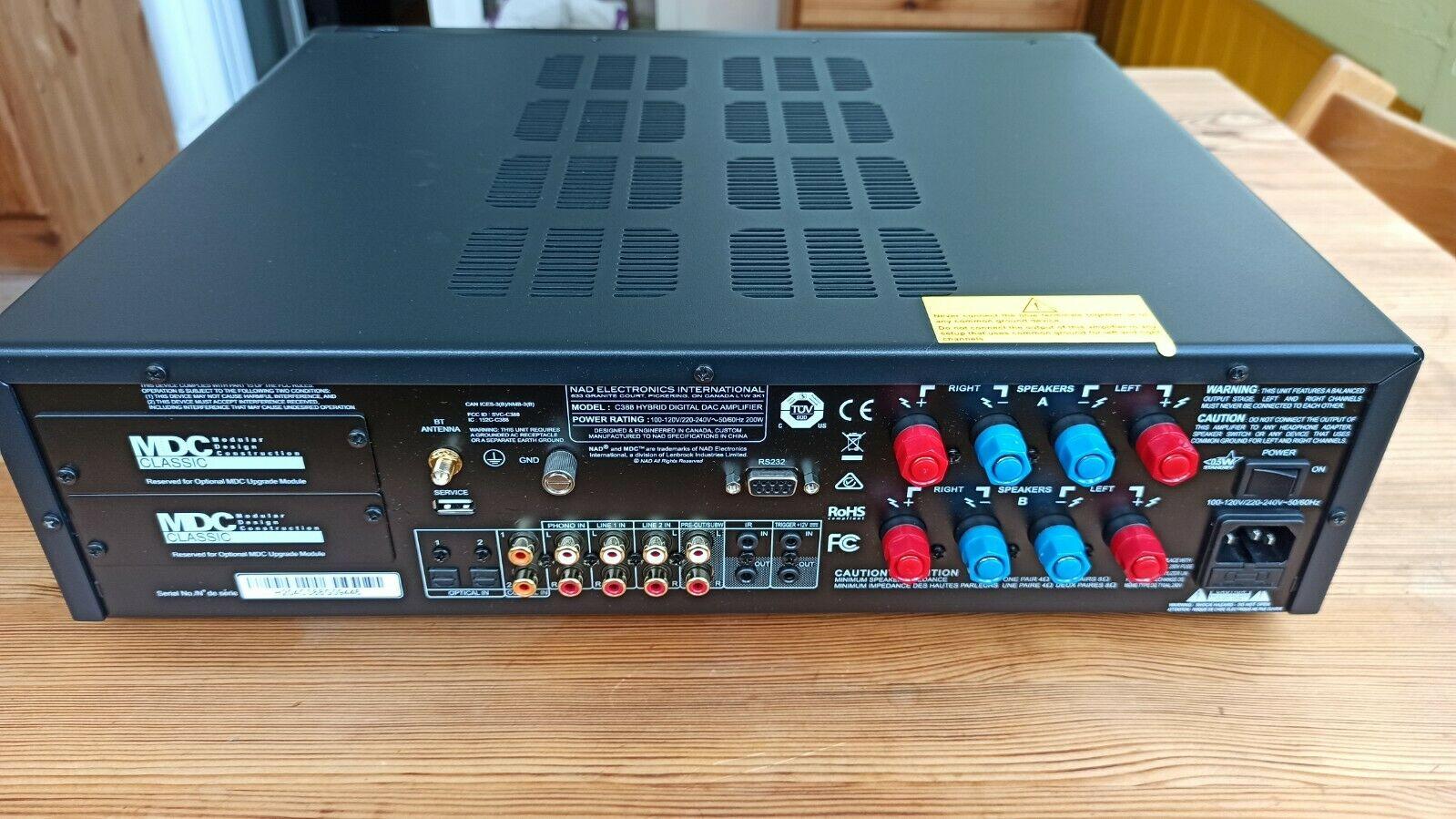 NAD C 388 Hybrid Digital Integrated Amplifier, DAC, Phono MM, Graphite.