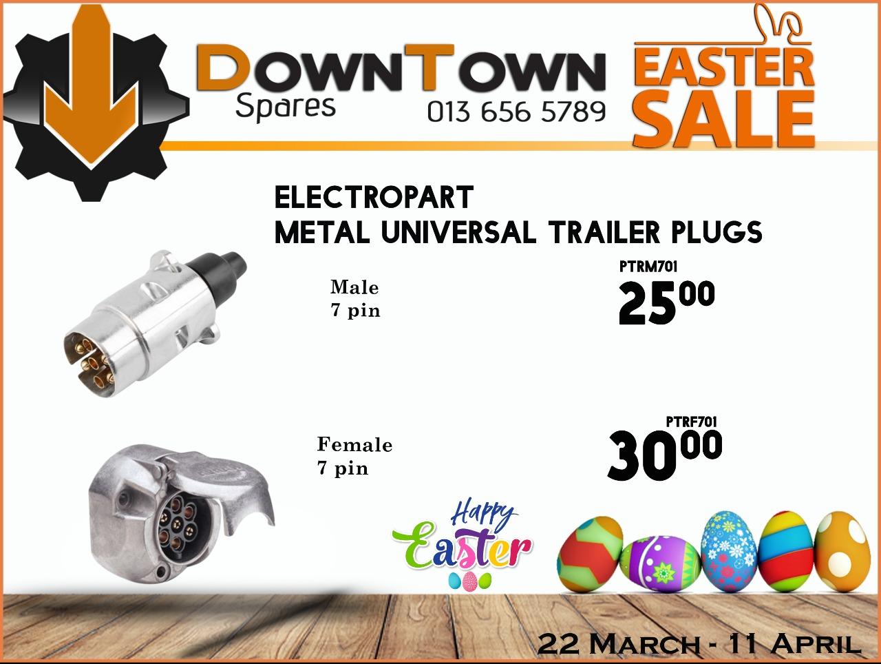 Electropart Metal Universal Trailer Plugs