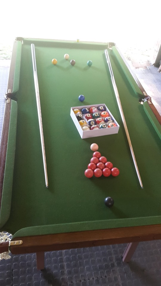 1980s Snooker Table can play pool too with accessories