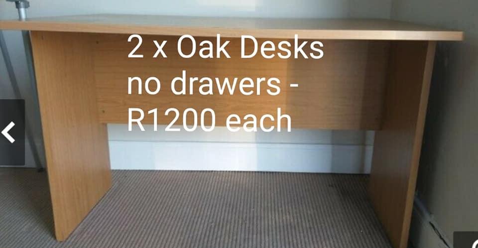 2x Oak desks.